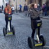 Tourists on a segway tour in Prague, Czech Republic in February 2014