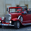 Beautiful car in Prague, Czech Republic in February 2014