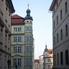 A beautiful building in Prague, Czech Republic in February 2014
