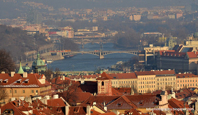 The Vltala River in Prague, Czech Republic, in February 2014