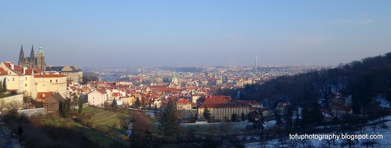 View of Prague, Czech Republic in February 2014