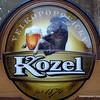 Kozel beer sign in Prague, Czech Republic in February 2014. Image of a goat