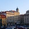 Beautiful buildings in Prague, Czech Republic in February 2014