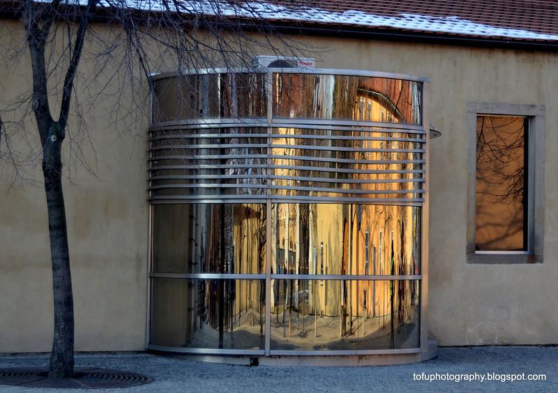 Architectural feature in Prague, Czech Republic in February 2014
