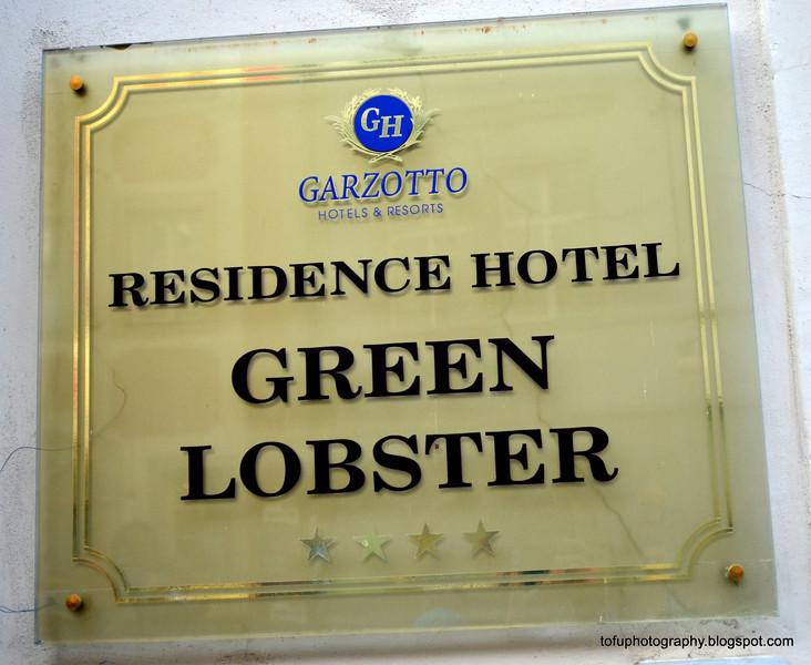 The Green Lobster hotel in Prague, Czech Republic, in February 2014