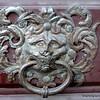 An ornamental door knocker in Prague, Czech Republic in February 2014
