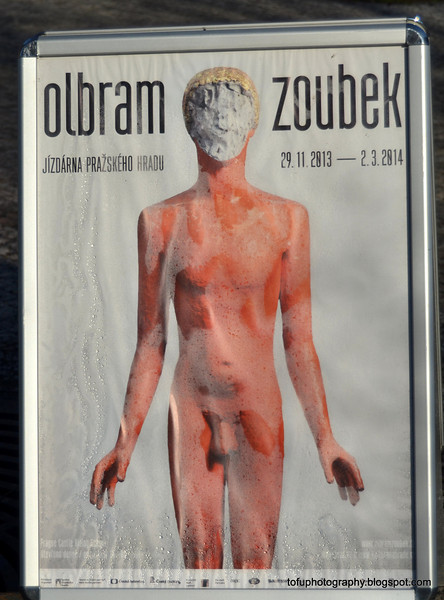 Poster for an Olbram Zoubek exhibition in Prague, Czech Republic in February 2014
