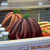 Sausages for sale in a cafe in Prague, Czech Republic, in February 2014