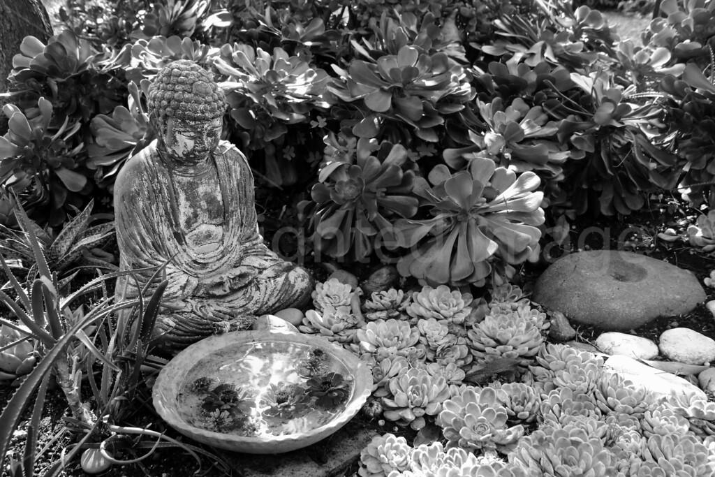 Esalen Buddha (B & W)