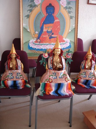 Blissful assembly, gompa cleaning day