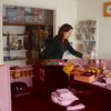 Dakini tidying up the Center shop