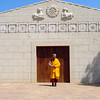 Venerable Geshe-la in front of the Menorca temple.