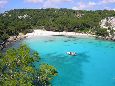 The beach at Menorca