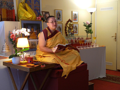 Kelsang Lotchana, Resident Teacher at the Centre