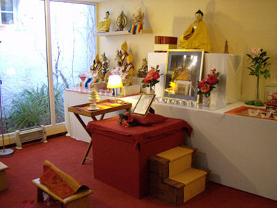 The Gompa (meditation room)