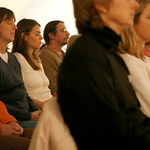 Jared Soares | The Roanoke Times<br /> Shot on 01.24.07<br /> <br /> Participants prepare themselves for meditation during the first class at the Dharmapala Buddhist Center, which recently moved to Roanoke from Troutville was held on Wednesday January 24. The center is geared toward making the teachings more accessible to Westerners.