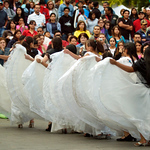Photo Eric Brady | The Roanoke Times <br /> Photo taken 10/08/06  <br /> Dancers with the group San Gerardo Girls perform during the Latinao Festival at Elmwood Park Sunday.