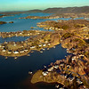 Photo Eric Brady | The Roanoke Times <br /> Photo taken 2/28/06<br /> Aerial images of Smith Mountain Lake, the housing development is Water's Edge.