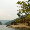 Photo Eric Brady | The Roanoke Times <br /> Photo taken 9/11/06  <br /> The majority of Carvins Cove Reservoir is geographicaly in Botetourt County with a small part including the dam in Roanoke County. The 800 acre reservoir and the land below the 1,200 foot contour is owned by the Western Virginia Water Authority, it is one of the primary water supplies for the area. It stores 6.5 billion gallons at full pond. Land in the water shed and above the 1,200 foot contour is owned by the City of Roanoke, the 12,700 acres is called the Carvins Cove Natural Reserve.