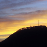 Photo by Eric Brady     Shot on 12/8/00<br /> A sunrise on Mill Mountain Friday morning from Wasena area of SW Roanoke.