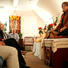 Jared Soares | The Roanoke Times<br /> Shot on 01.24.07<br /> <br /> Resident teacher Deann Bishop listens to questions during the first class at the Dharmapala Buddhist Center, which recently moved to Roanoke from Troutville was held on Wednesday January 24. The center is geared toward making the teachings more accessible to Westerners.
