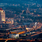 Photo ERIC BRADY - The Roanoke Times<br /> Downtown Roanoke from Mill Mountain Star overlook shot at dawn, including the Taubman Museum of Art.