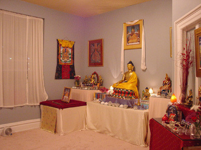 Buddhist meditation room in Columbia, SC.