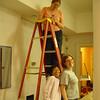 Sangha Jewels paint Ganden Center in Columbia, SC.