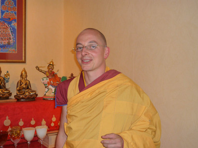 Kelsang Jamyang, the Resident Teacher at the Centre