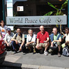 The Lyon Sangha, in front of the World Peace Cafe in England