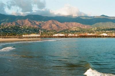 The tranquil coastline