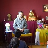 The Resident Teacher of Maitreya Centre giving teachings