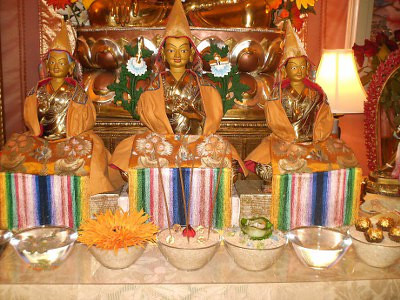 Je Tsongkhapa and sons<br /> The Buddhas look on with delight!