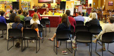 Bookstore Talk <br /> Stop in for a regular class or a special event like this bookstore talk at Borders...