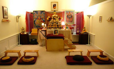 Shrine<br /> Come inside the beautiful meditation room and find some ...
