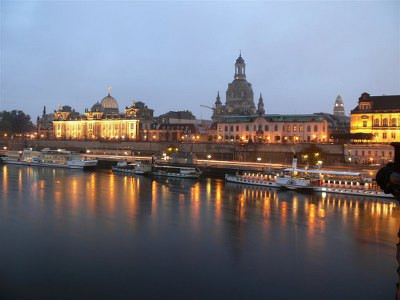 The famous skyline of Dresden