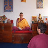 The meditation room during a teaching
