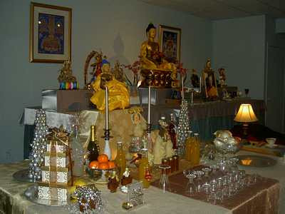 Each year, our resident teacher grants an empowerment, which bestows upon us special blessings that heal our mental continuum and awaken our Buddha nature. Students work together to set up beautiful offerings and prepare for all the rituals.