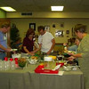 Pot luck suppers mark special occasions and provide opportunities for all levels of students to mingle.