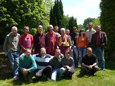 The residents of KMC France with some working visitors