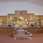 Our complete shrine with breathtaking Buddhas!