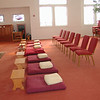 The room is always ready for meditators