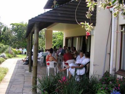 veranda in-front of the Meditation Room