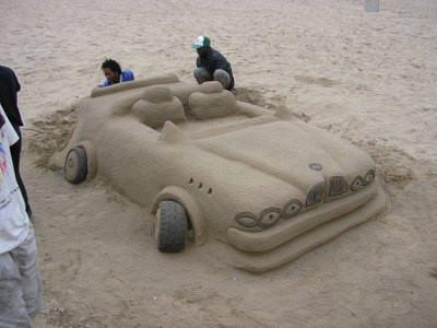 African beach art