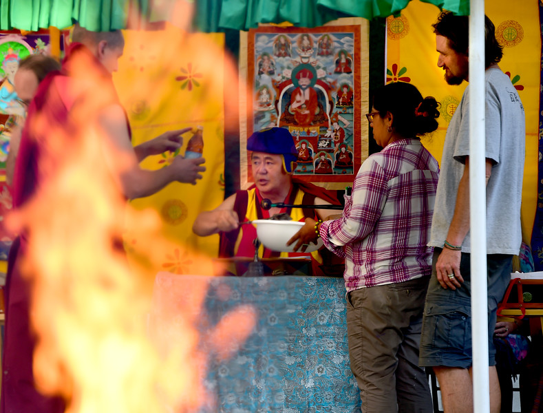 Buddhist Fire Ceremony in Longmont