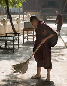 Sweeping Up Before the Meal