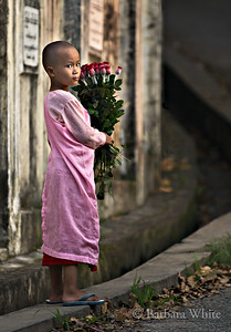 Little Nun With Roses
