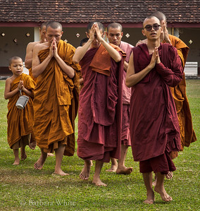 Thai Monks In Laos