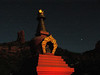 Amitabha Stupa by the light of the full moon, by Palzang