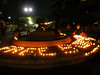 "Candles spell out ""Free Suu Kyi\"" , by Palzang"